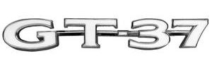 "GTO Fender Emblem, 1970-71 ""GT-37"" (Lower)"