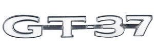 """GTO Trunk Lid Emblem, 1971 """"GT-37"""""""