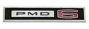 """1965-1965 LeMans Fender Emblem, 1965 """"PMD 6"""""""