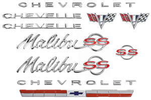 Nameplate Kit, 1964 Chevelle 327 Malibu, SS
