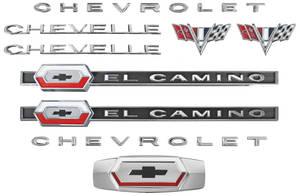 1964-1964 El Camino Nameplate Kit, 1964 El Camino 327