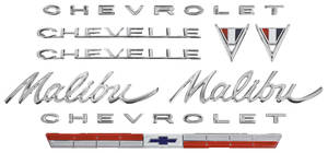 Nameplate Kit, 1964 Chevelle 283 Malibu
