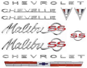 1964-1964 Chevelle Nameplate Kit, 1964 Chevelle 283 Malibu, SS