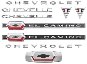 1964-1964 El Camino Nameplate Kit, 1964 El Camino 283