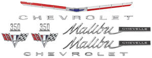 1965-1965 Chevelle Nameplate Kit, 1965 Chevelle 350 Malibu