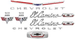 1965-1965 El Camino Nameplate Kit, 1965 El Camino 350
