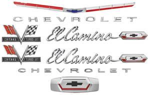 1965-1965 El Camino Nameplate Kit, 1965 El Camino 396