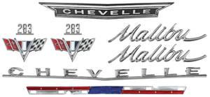 1966-1966 Chevelle Nameplate Kit, 1966 Chevelle 283 Malibu