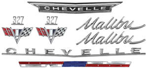 Nameplate Kit, 1966 Chevelle 327 Malibu
