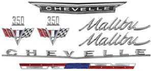 1966-1966 Chevelle Nameplate Kit, 1966 Chevelle 350 Malibu