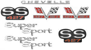 Nameplate Kit, 1967 Chevelle Super Sport SS427