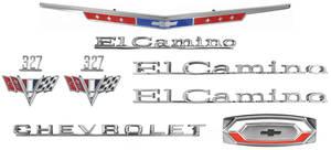1967-1967 El Camino Nameplate Kit, 1967 El Camino 327
