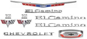1967-1967 El Camino Nameplate Kit, 1967 El Camino 350