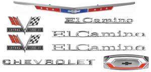 1967-1967 El Camino Nameplate Kit, 1967 El Camino 396