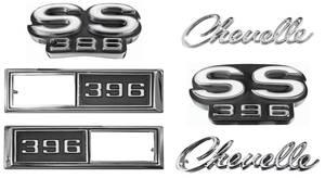 1968-1968 Chevelle Nameplate Kit, 1968 Chevelle SS396