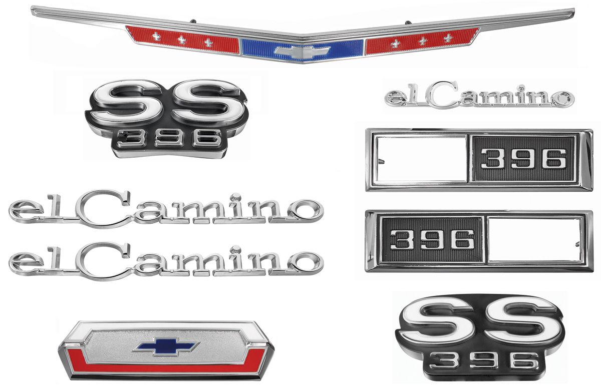 Photo of Nameplate Kits, 1968 El Camino SS396