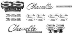 1969-1969 Chevelle Nameplate Kits, 1969 Chevelle SS396