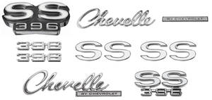 Nameplate Kits, 1969 Chevelle SS396