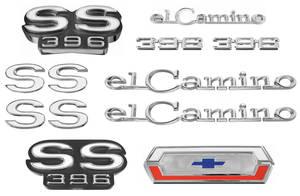 Nameplate Kits, 1969 El Camino SS396