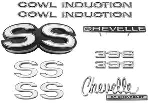 Nameplate Kit, 1970 Chevelle SS396 w/Cowl Induction