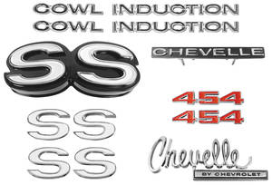Nameplate Kit, 1970 Chevelle SS454 w/Cowl Induction