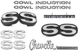 1971-1971 Chevelle Nameplate Kit, 1971 Chevelle SS350/396 w/Cowl Induction