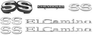1971-1971 El Camino Nameplate Kit, 1971 El Camino SS350/396 w/o Cowl Induction