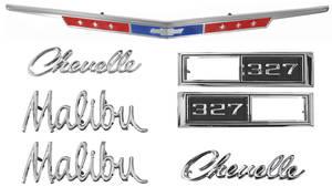 1968-1968 Chevelle Nameplate Kit, 1968 Chevelle 327 Malibu