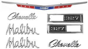 Nameplate Kit, 1968 Chevelle 327 Malibu