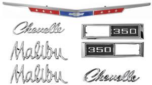 1968-1968 Chevelle Nameplate Kit, 1968 Chevelle 350 Malibu