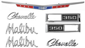 Nameplate Kit, 1968 Chevelle 350 Malibu