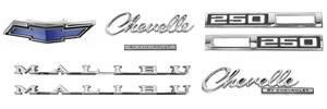 Nameplate Kits, 1969 Chevelle 250 Malibu