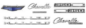 1969-1969 Chevelle Nameplate Kits, 1969 Chevelle 350 Malibu
