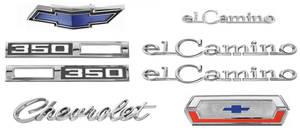 1969-1969 El Camino Nameplate Kits, 1969 El Camino 350