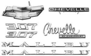 1970-1970 Chevelle Nameplate Kit, 1970 Chevelle 307 Malibu