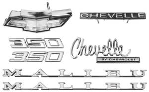 1970-1970 Chevelle Nameplate Kit, 1970 Chevelle 350 Malibu