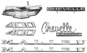1970-1970 Chevelle Nameplate Kit, 1970 Chevelle 400 Malibu
