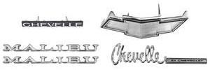 1971-1971 Chevelle Nameplate Kit, 1971 Chevelle 350 Malibu, Non-SS