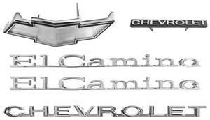 1971-1971 El Camino Nameplate Kit, 1971 El Camino Non-SS