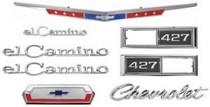 1968-1968 El Camino Nameplate Kits, 1968 El Camino 427
