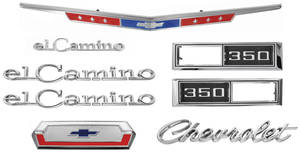 Nameplate Kits, 1968 El Camino 350