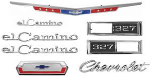 1968-1968 El Camino Nameplate Kits, 1968 El Camino 327