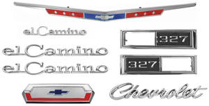 Nameplate Kits, 1968 El Camino 327
