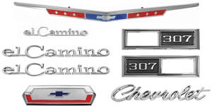 1968-1968 El Camino Nameplate Kits, 1968 El Camino 307