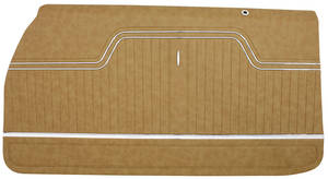 1970-72 Door Panels, Top Rail Assembled El Camino