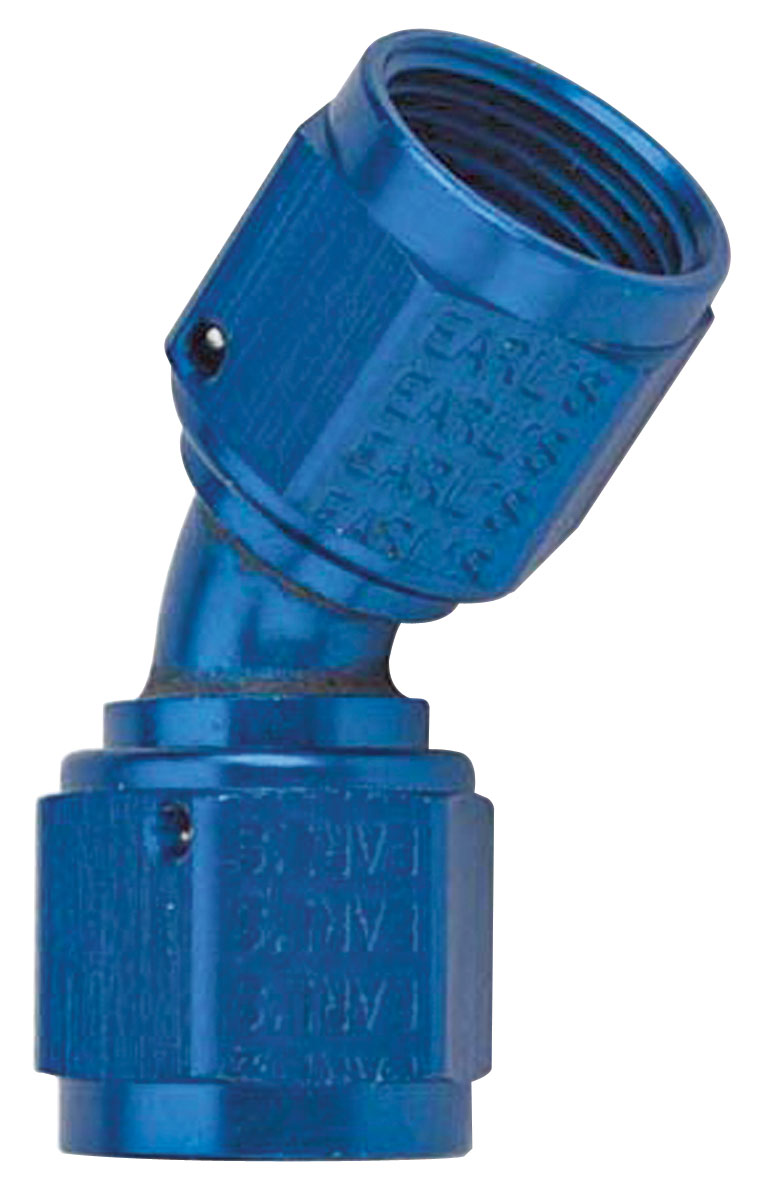Photo of Adapter Fittings, Earl's 45° Swivel Coupler -6 AN