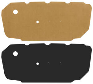 1964-1965 El Camino Door Panel Water Shields Front (Chevelle/El Camino), by Repops