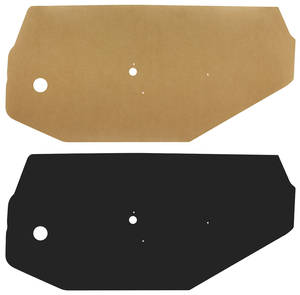 1968-72 Door Panel Water Shields Front (Chevelle/El Camino)