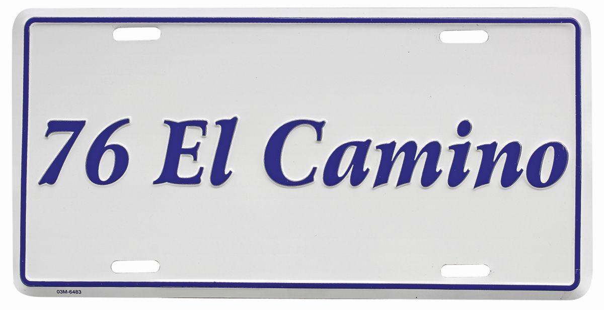 "Photo of License Plate, ""El Camino"" Embossed"
