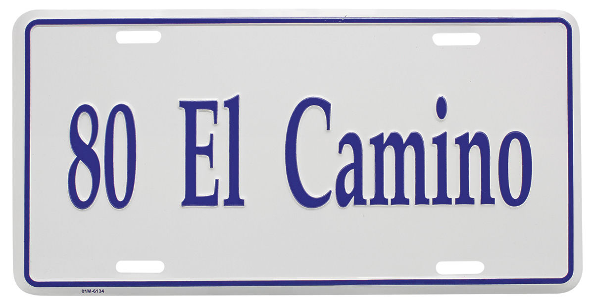 "Photo of License Plate, ""El Camino"" (Custom Embossed) El Camino"